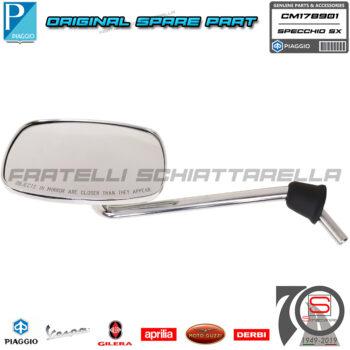 Specchio Specchietto Sinistro Originale Piaggio Vespa S 4T 4V 50 125 150 CM178901