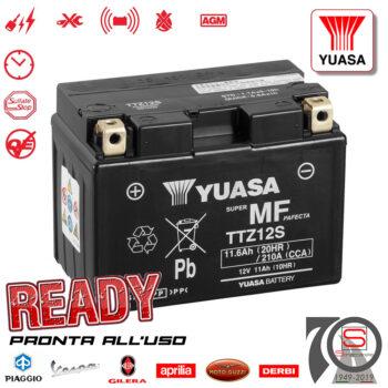 Batteria Accumulatore Moto Scooter Originale YUASA TTZ12S E07059 E0840810 E0841110 E0841115 E01070