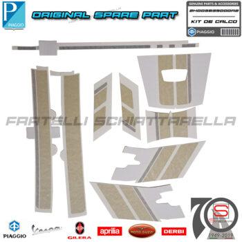 Kit Fregi Targhette Giallo Verde Originale Piaggio per Vespa 125 300 GTS Kit Fregi Targhette Giallo Verde Originale Piaggio Vespa 125 300 GTS 2H003839000A2