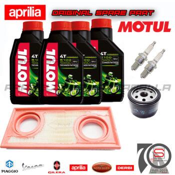 Kit Tagliando Olio Motore Filtri Candela Aprilia Dorsoduro Factory Shiver Gt 750 851575 82960R 829981 CR7EKB N3821071 O115991 115991 motul 104080