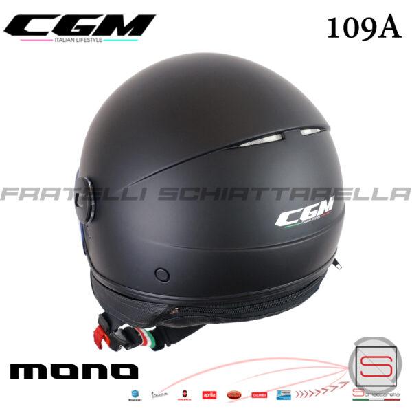 Casco Demi Jet Moto CGM 109E Globo Basic Mono Visiera Sagomata Nero Opaco 109A-GSA-01 109AGSA01