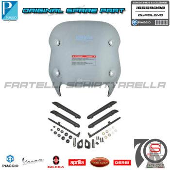 Cupolino Parabrezza Fumè Con Attacchi Originale Piaggio New Beverly 300-400 1B009098
