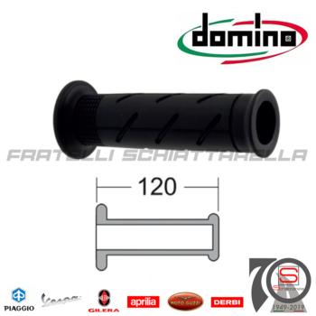 Domino-184160700 Coppia Manopole Nero Forate 120mm No Macchia Honda Sh 300 Integra 700