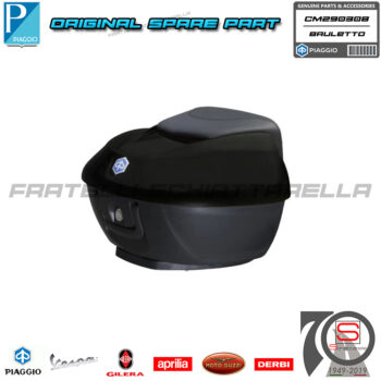 Kit Baule 36LT Nero Carbonio Opaco 93B Cucitura Blu Piaggio Beverly 300-350 CM290308 Police