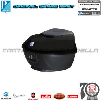 Kit Baule 36LT Nero Carbonio Opaco 93B Cucitura Rossa Piaggio Beverly 300-350 CM290309