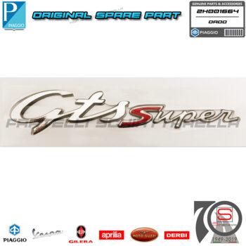 Targhetta Adesiva Gts Super Laterale Originale Piaggio Vespa Gts 125 Ie Abs E4 2H001664