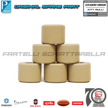 Kit 6 Rulli Variatore Originale Piaggio Beverly MP3 Vespa Gtv Gts Super Hpe 300 CM294902