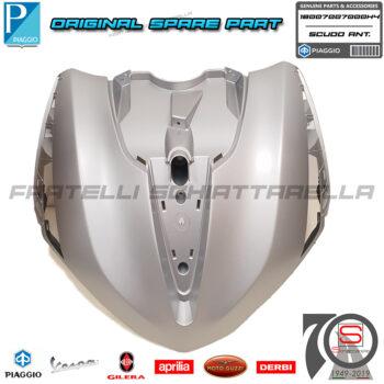 Scudo Anteriore Grigio 760B Originale Piaggio New Beverly Hpe Abs E5 300 400 1B007007 1B007007000H4