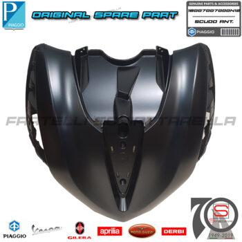 Scudo Anteriore Nero N12 Originale Piaggio New Beverly Hpe Abs E5 300 400 1B007007000N12