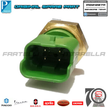 Sensore Temperatura Acqua Piaggio Mp3 Beverly Carnaby Vespa Gts X10 X7 Rambla Gp 640485 Termostato Testa Originale 58299R 1A021287R