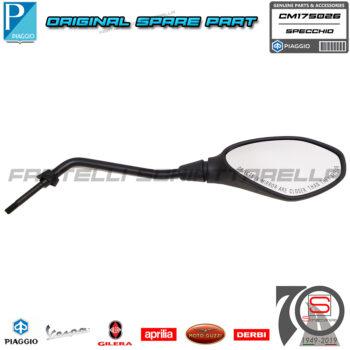 Specchio Specchietto Retrovisore Destro Original Piaggio Beverly Hpe Abs 300 400 CM175026