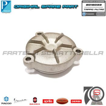 Tappo Coperchio Vaschetta Filtro Olio Originale Piaggio Beverly 350 New 400 Hpe B018033