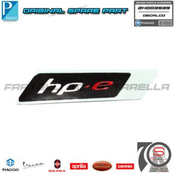 Targhetta Adesiva Decalco Vespa Hpe Originale Vespa GTS GTV Super Sei Giorni HPE ABS 300 E4 2H003939 2H003322