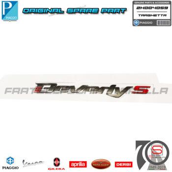 Targhetta Adesivo Decalco Originale Piaggio Beverly S 4T Hpe Abs E5 400 300 2H004059
