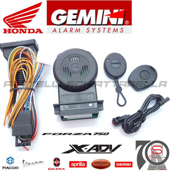 Kit Antifurto Elettronico Antirapina Gemini 953NH Honda X ADV Forza 750 2021 Alarm 953NN 953N KITCA1094 953NH