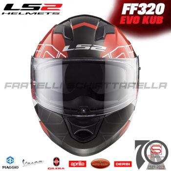Casco Helmet Integrale LS2 FF320 Stream Evo Kub Red Black White 1032044320060 LS22105-1TDT